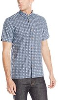 Ben Sherman Men's Short Sleeve Kite Print Woven
