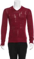 John Varvatos Linen V-Neck Sweater