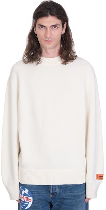 Heron Preston Stamp Crewneck Knitwear In White Wool