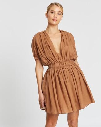 MATIN Short Sleeve Gathered Dress