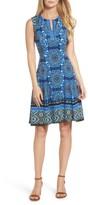 Maggy London Petite Women's Scuba Fit & Flare Dress