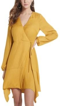 GUESS Eco Hanna Paisley Jacquard Wrap Dress