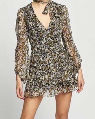 Shona Joy Valentina Scarf Neck Mini Dress