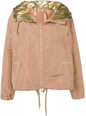 No.21 metallic hood jacket
