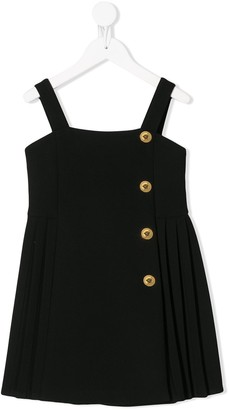 Versace Buttoned Pleated Dress