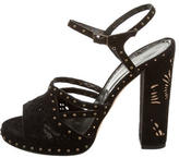 Marchesa Suede Studded Sandals