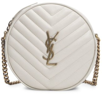 Saint Laurent Jade Round Matelasse Leather Bag