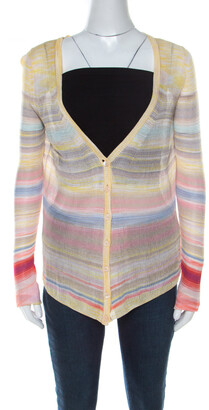 Missoni Multicolor Striped Knit Cardigan M