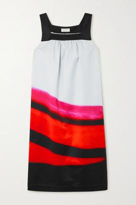 Dries Van Noten Dogos Striped Cotton-blend Poplin Dress - Red