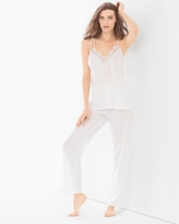 Soma Intimates Cluny Lace Cotton Pajama Set White