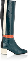 Pierre Hardy WOMEN'S COLORBLOCKED PATENT LEATHER KNEE BOOTS-BLUE SIZE 8