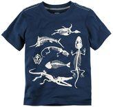 Carter's Boys 4-8 Dinosaur Skelton Graphic Tee