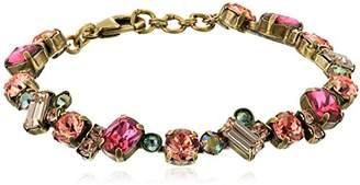 Sorrelli Womens Radiant Sunrise Multi Cut Crystal Cluster Bracelet