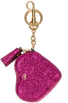 Anya Hindmarch Metallic Pink Leather Heart Coin Purse