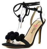 Penny Loves Kenny Darling Women W Open Toe Synthetic Black Sandals.