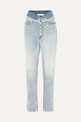 IRO Fasti Belted High-rise Tapered Jeans - Light denim