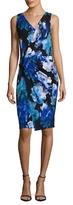 T Tahari Nessa Jersey Floral Print Sheath Dress
