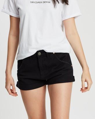DRICOPER DENIM - Women's Black Denim - Slouchy Shorts - Size One Size, 7 at The Iconic