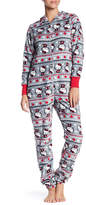 Hello Kitty Fair Isle Hooded Fleece Pajama Suit