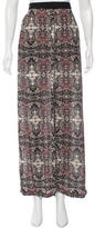 A.L.C. Silk Printed Maxi Skirt