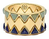Tory Burch Puzzle Metal & Stone Ring Set