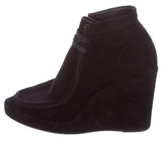 Balenciaga Suede Wedge Ankles Boots Black Suede Wedge Ankles Boots