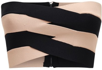 Dion Lee Two Tone Viscose Blend Knit Bustier