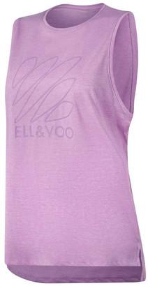 Ell & Voo Womens Taylor Logo Muscle Tank