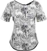 Anna Scott Palm Print Top