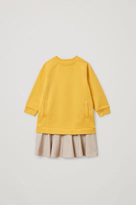 Cos Colour-Block Cotton Dress