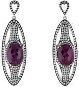Hellmuth Diamond & Ruby Drop Earrings