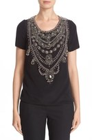 Marchesa Embellished Crepe Top (Nordstrom Exclusive)