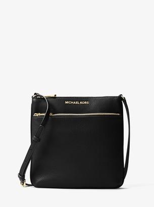 MICHAEL Michael Kors Riley Small Pebbled Leather Messenger Bag