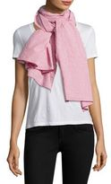 Donni Charm Ace Stripe Cotton Scarf