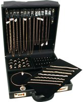 FindingKing Large Jewelry Attache Display Travel Case & Locks New
