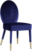 Chic Home Set Of 2 Leverett Navy Dining Chairs
