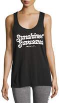 Spiritual Gangster Sunshine & Savasana Aura Tank Top, Black