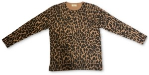 Style&Co. Style & Co Animal-Print Pullover Sweater, Created for Macy's