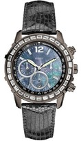 Guess Men's W0017L3 40mm Stainless Steel Case Grey Calfskin Mineral Watch