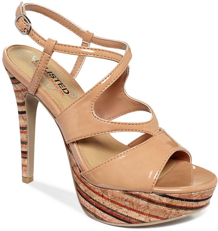 Unlisted Shoes, Grade Again Platform Sandals