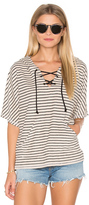 Michael Stars Playa Stripe Lace Up Baja Top