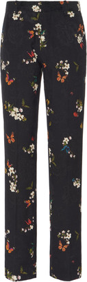 Amiri Butterfly Jacquard Straight-Leg Pants