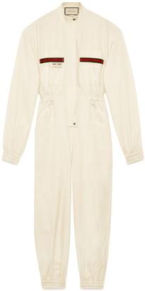 Gucci Cotton jumpsuit with label