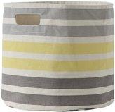 Pehr Designs 3 Stripe Bin, Grey/Yellow