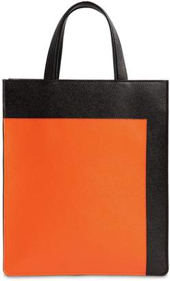 Valextra Boxy Small Color Block Leather Tote Bag