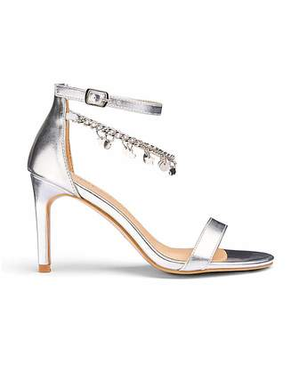 Simply Be Carrie Trinket Sandals Extra Wide Fit