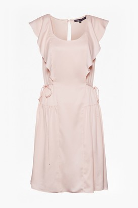 French Connection Nia Drape Capped Sleeve Mini Dress