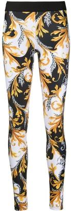 Versace Baroque print workout leggings