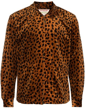 Wacko Maria Leopard-Print Zip-Up Jacket
