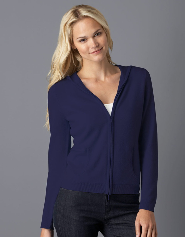 Lord & Taylor Zip-Up Cashmere Hoodie